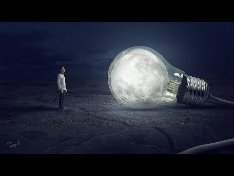 Bulb Moon ◾️ Photoshop Manipulation Tutorial Processing