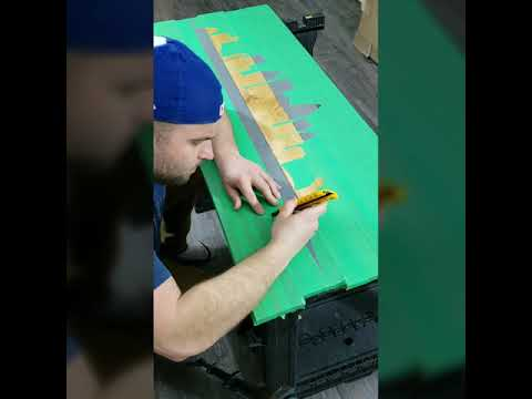 Montreal Skyline On Wood | Woodworking Art | Skyline Painting | Handmade | DiY