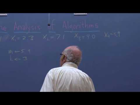 Stanford Lecture - Don Knuth:  The Analysis of Algorithms