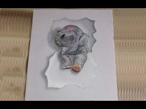 how to draw 3d on paper