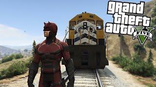 GTA 5 Mods - Daredevil vs The Train