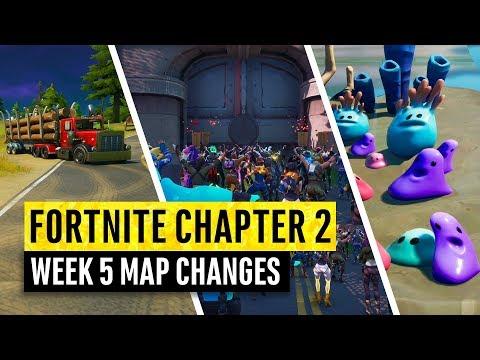 Fortnite   All Chapter 2 Map Updates and Hidden Secrets! WEEK 5