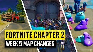 Fortnite | All Chapter 2 Map Updates and Hidden Secrets! WEEK 5