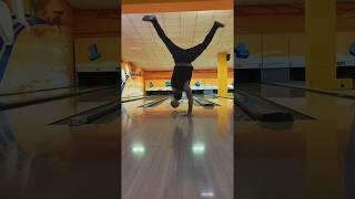 Handstand bowling strike
