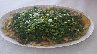 Közlenmiş Patlıcan Salatası Nasıl Yapılır? (Közlenmiş Patlıcan)