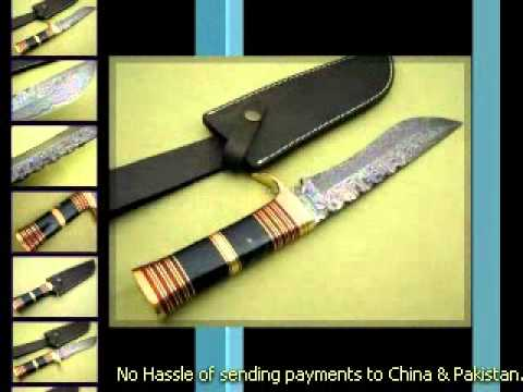 Damascus Hunting Knife - Damascus knife art