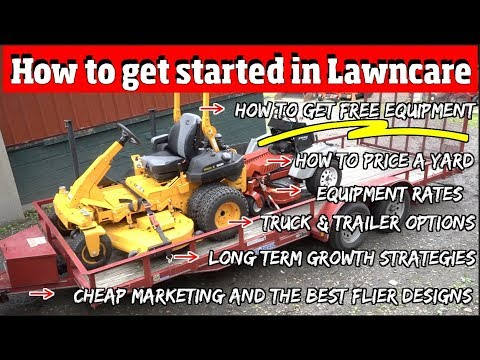 How a kid, teenager or adult can get started in Lawn mowing with Little to no Money