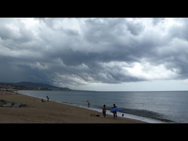Tempestes per acomiadar l'onada de calor - Badalona - Agost 2018