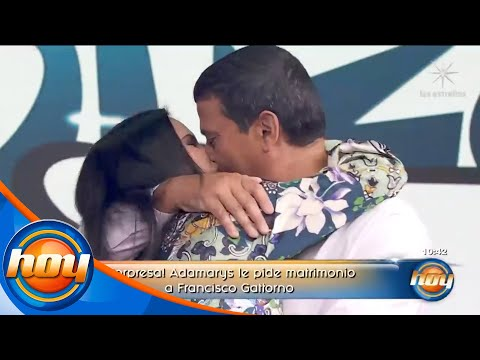 ¡Novia de Francisco Gattorno le pide matrimonio en vivo! | Programa Hoy