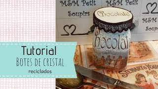Recicla y decora botes de cristal DIY, DIY crackle crystal glass,裂纹水晶玻璃