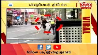 Viral Video of Australia Homeless man who rammed terrorist with trolley hailed as hero | Vtv News