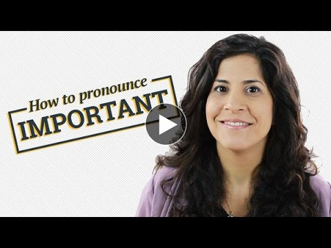 How to say 'Important'
