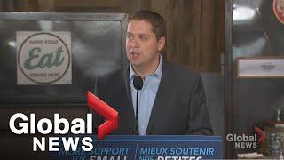 Canada Élection: Scheer se dit qu'il va créer des guides pour les entrepreneurs, les couper règlement
