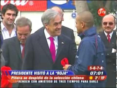 El frio encuentro entre marcelo bielsa y sebastian piñera...04/06/2010