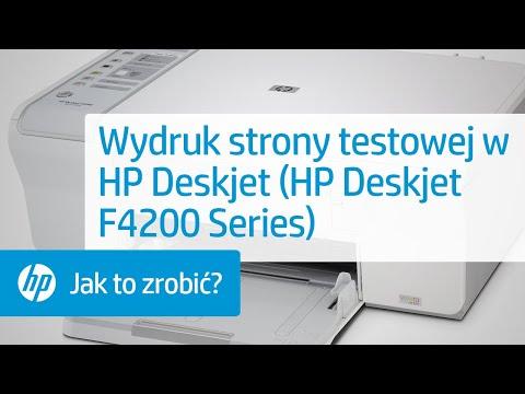 Wydruk Strony Testowej W Hp Deskjet Hp Deskjet F4200