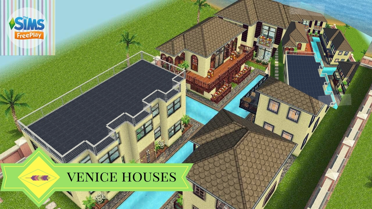 The sims freeplay venice houses original design 5 for Modele maison sims freeplay