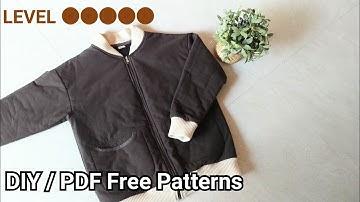 미돌남-(무료패턴 Free Patterns) 시보리 집업 기본 점퍼 옷만들기 / Making clothes Jacket outerwear for womans /服作り 手作教學