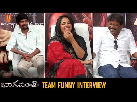 Bhaagamathie Movie Team FUNNY Interview | Anushka Shetty | Dhanraj | Prabhas Sreenu | UV Creations