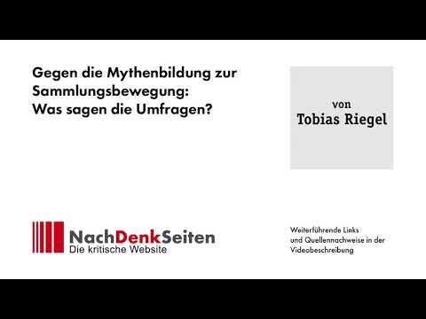 Gegen die Mythenbildung zur Sammlungsbewegung: Was sagen die Umfragen? | Tobias Riegel