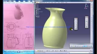 Catia V5 Tutorials| How to Create Mug using GSD Complete Compilation
