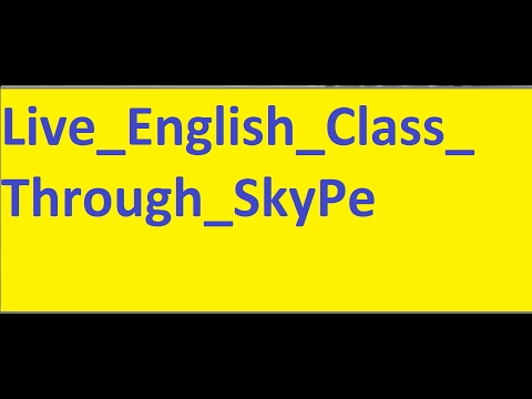 Live English Class Through Skype with an Indian Teacher!