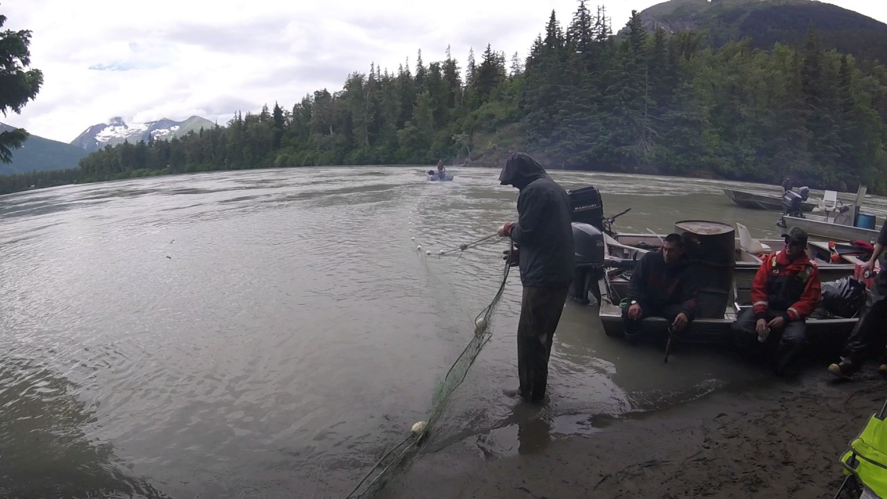 how to set up a gill net