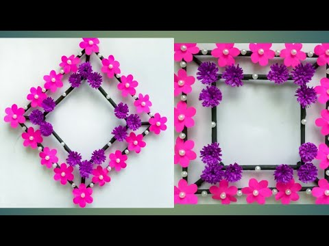 Diy Paper Flower Wall Hanging Simple And Beautiful Wall