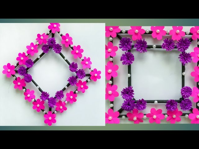 Diy paper flower wall hanging /Simple and beautiful wall hanging/Wall decoration by KovaiCraft #14