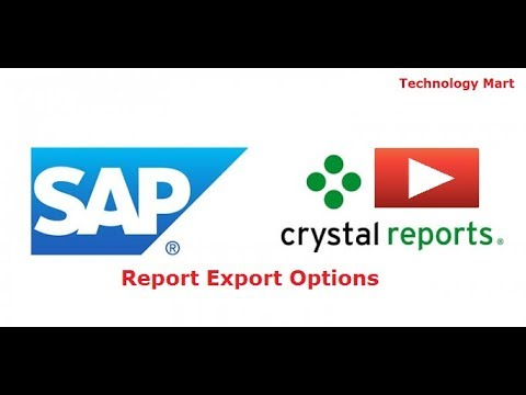 Report Export Options In SAP Crystal Report