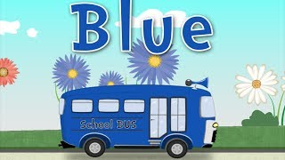 Learn the Colors with School Bus - School Bus Color RED Color YELLOW Color BLUE (Songs For Children)
