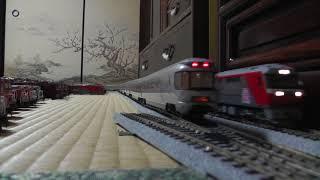 【鉄道模型】HOゲージDF200牽引カシオペアクルーズと高速貨物列車