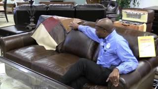 Pinellas Park furniture, leather sofa, 100 top grain leather USA premium leather
