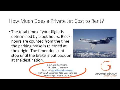 How Much Does a Private Jet Cost to Rent?