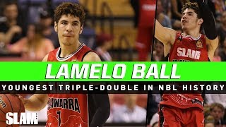 LaMelo Ball is The Youngest Player to Record Triple-Double in NBL History 😤  Drops Easy 32 Points❗️
