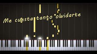 (Synthesia) Me cuesta tanto olvidarte-Mecano/PianoTutorial