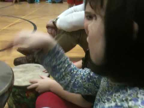Drum circle at Southdown School's VIP Night - February 3, 2012