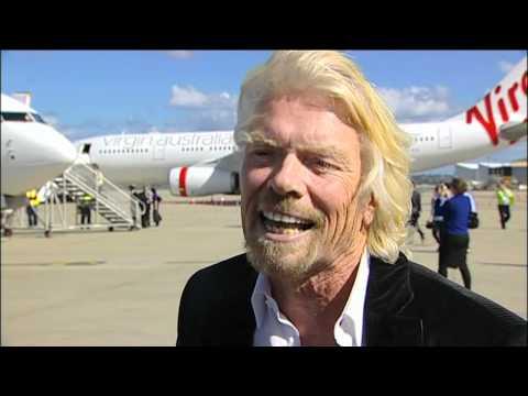 Virgin Australia Launch day with Sir Richard Branson