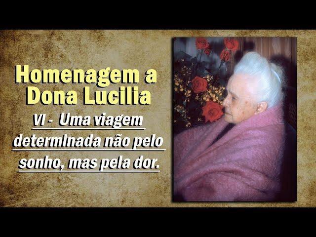 Homenagem pelo aniversário de Dona Lucilia: VI - Uma viagem determinada não pelo sonho, mas pela dor