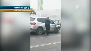 Видео того, как пьяный судья меняет номера машины после ДТП под Ростовом