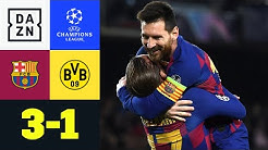 BVB-Erwachen kommt bei Messi-Show zu spät: Barcelona - Dortmund 3:1 | UEFA Champions League | DAZN