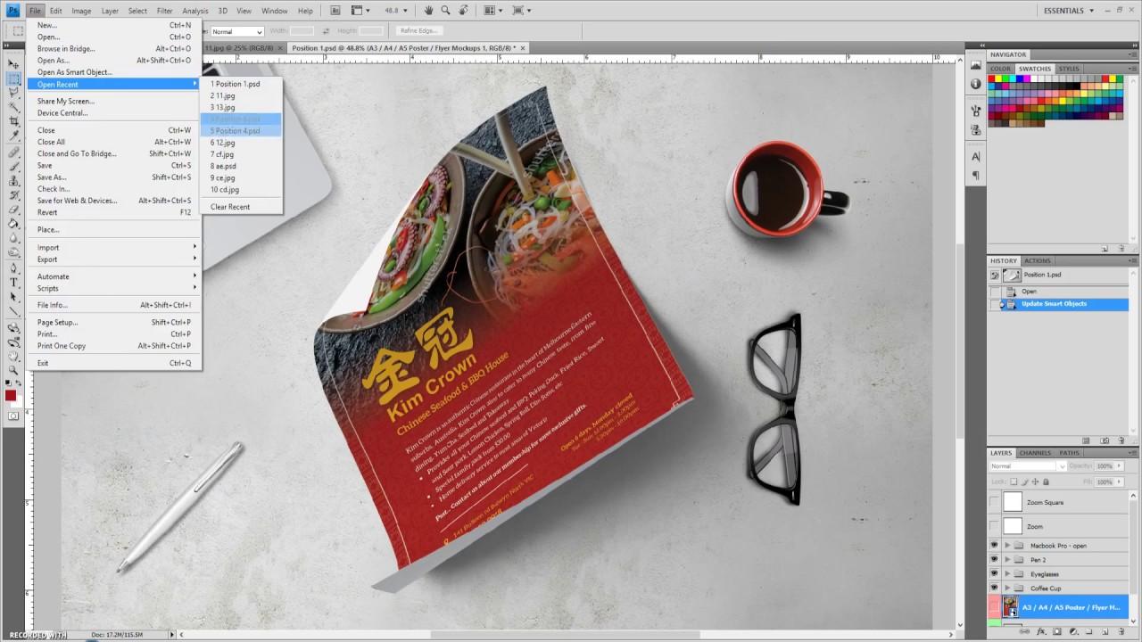 Poster design in indesign - Elegant Poster In Adobe Indesign Cc Time Lapse