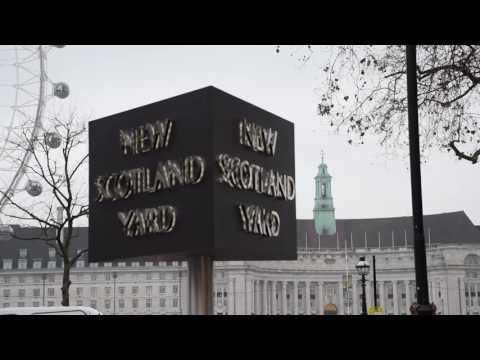 New Scotland Yard sign official switch on