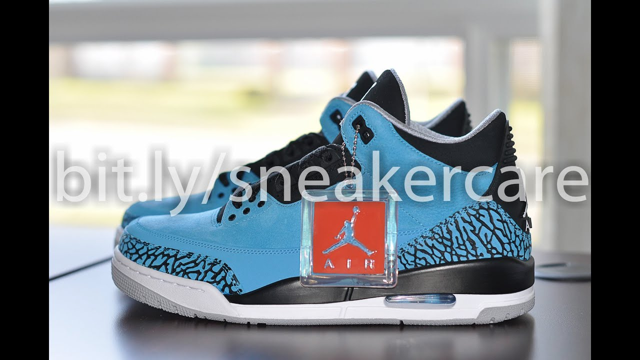 sports shoes 24598 6c1d5 Jordan III 3 Powder Blue Review and How to Protect