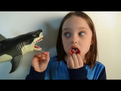 "Thumbnail: Shark Attacks Annabelle Knocks Her Tooth Out ""Toy Freaks Tooth Fairy Sharks"""