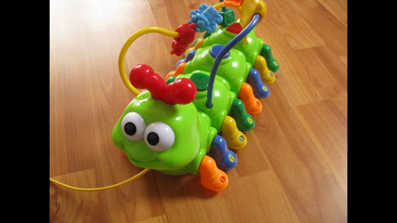 megcos pull-along musical caterpillar fun activity toy