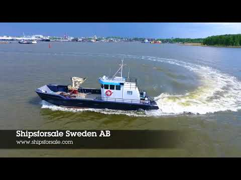 Shipsforsale Sweden Aluminium workboat Arne for sale.