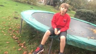 How to :  do a front flip 180 on a trampoline