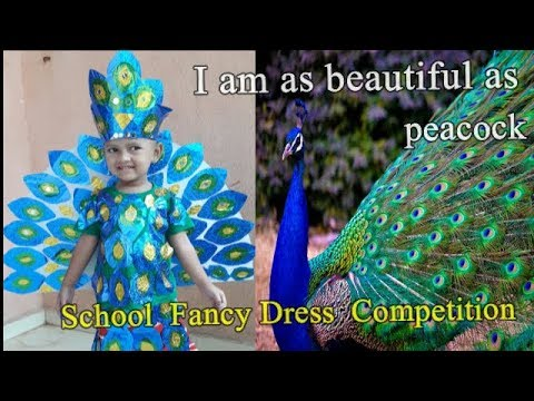 #School Fancy Dress Competition :DIY : #PEACOCK COSTUME  : SWEET OJAL