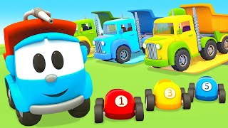 Car cartoons full episodes & street vehicles for kids - Leo the truck & Helper cars for kids.