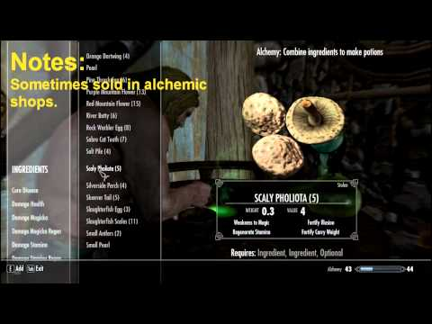 SKYRIM ALCHEMISTS GUIDE & ENCYCLOPEDIA